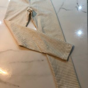 Other - Tea Collection striped leggings (gold stripe).